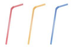 Drinking straws Set Royalty Free Stock Photo
