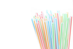 Drinking straws tips Royalty Free Stock Photos