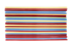 Drinking straws top view Royalty Free Stock Photography