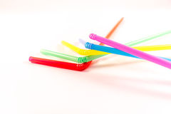 Drinking straws Stock Photo