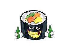 Drinking sushi cartoon Stock Photo