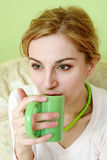 Drinking tea Royalty Free Stock Photography