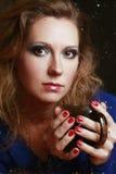 Drinking tea Stock Photography
