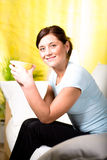 Drinking tea Royalty Free Stock Images