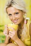 Drinking tea Stock Photos