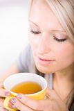 Drinking tea Stock Image