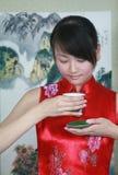 Drinking tea Royalty Free Stock Photography