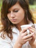 Drinking tea Stock Photo