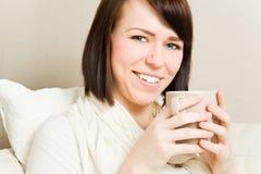 Drinking tea Stock Image