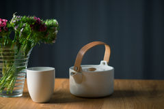 Drinking Tea Background Stock Photo