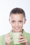Drinking tea Stock Photography
