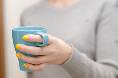 Drinking tea Stock Images