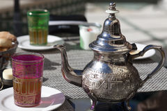 Drinking tea in Marocco Stock Images