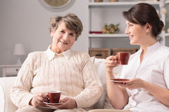 Drinking tea together Stock Photography