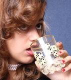 Drinking teen Royalty Free Stock Photography