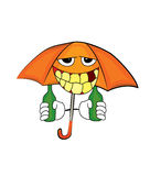 Drinking umbrella cartoon Stock Photo