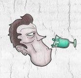 Drinking water. Creative design of Drinking water stock illustration