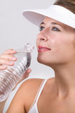 Drinking a water Royalty Free Stock Image