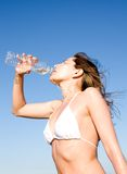 Drinking water Royalty Free Stock Images