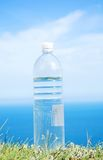 Drinking water. Clean drinking water in the sky Royalty Free Stock Images