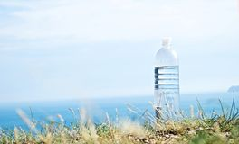 Drinking water. Clean drinking water in the sky Stock Photography