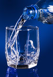 Drinking water. The drinking cleared mineral water royalty free stock images