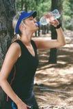 Drinking water athlete Stock Photos