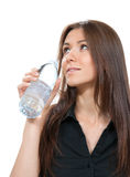 Drinking water bottle healthy lifestyle weight loss concept Stock Image