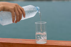 Drinking water  cool drink  hot. Refrshment drinking water cool drink Royalty Free Stock Photos