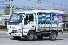 Drinking water delivery truck of Dew Drop company Royalty Free Stock Photo