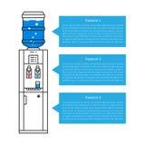 Drinking water dispenser vector illustration Royalty Free Stock Photos