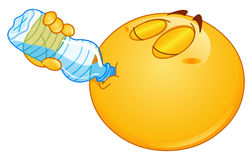 Drinking water emoticon Royalty Free Stock Images