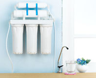 Drinking water filter Stock Images