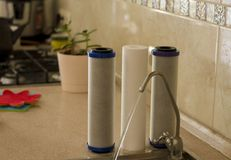 Water filters clean water cooking water royalty free stock photo