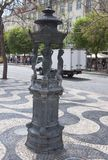 Drinking water fountai. N on the square in lisbon - PortugalI Stock Image