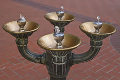 Drinking Water Fountain. Antique bronze drinking water fountain downtown Portland Oregon Royalty Free Stock Images