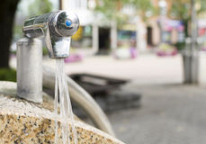 Drinking water fountain in a city Royalty Free Stock Image