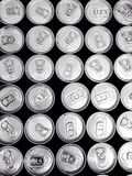 Drinking water in many cans. Fresh water for you Stock Image