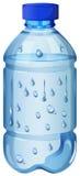Drinking water in plastic bottle. Illustration royalty free illustration