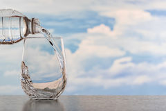 Drinking water poured. Into the glass Stock Images