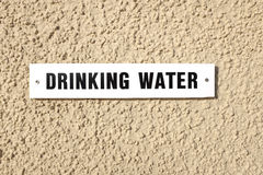 Drinking water sign. Stock Images