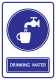 Drinking water sign and symbol  Royalty Free Stock Images