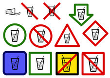 Drinking water signs Stock Photo