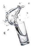 Drinking water splash Stock Photo