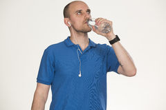 Drinking water after sports royalty free stock photos