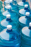 Drinking Water Supply. Rows of Big Bottle of Drinking Water Supply royalty free stock photo