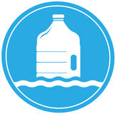Drinking water symbol with bottle Stock Photography