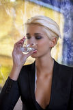 Drinking water Royalty Free Stock Photography