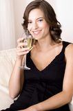 Drinking Wine royalty free stock image