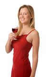 Drinking wine Royalty Free Stock Photo